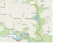Wayford bdge to Wroxham map